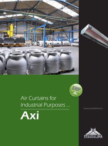 Air Curtains for Industrial Purposes ... - Stavoklima.cz