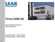 Firma LEAB AG