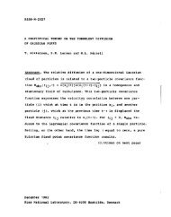 A STATISTICAL THEORY ON THE TURBULENT DIFFUSION OF ...