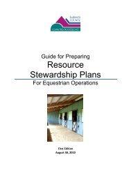 Guideline for Preparing Resource Stewardship Plans