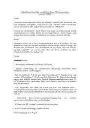 Gedaechtnisprotokoll der muendlichen Hagen-Abschlusspruefung ...