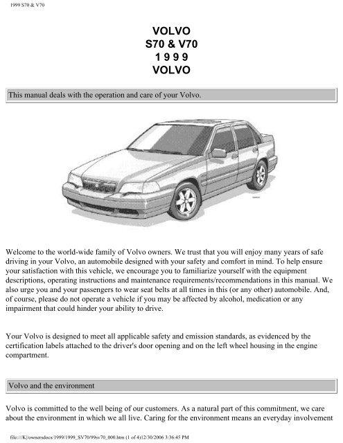 1999 Volvo V70 2.4 Headlight Adjuster Motor