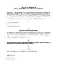 1. Satzung zur Änderung der Satzung über die ... - Stadt Preetz