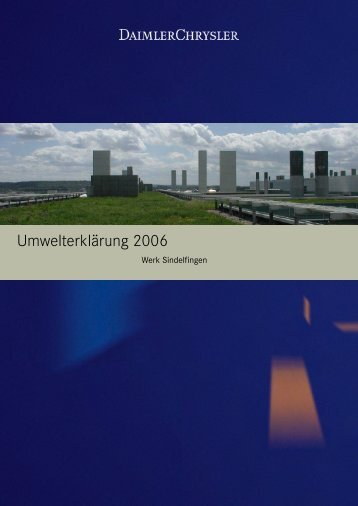 Daimlerchrysler Werk Sindelfingen, Umwelterklärung 2006