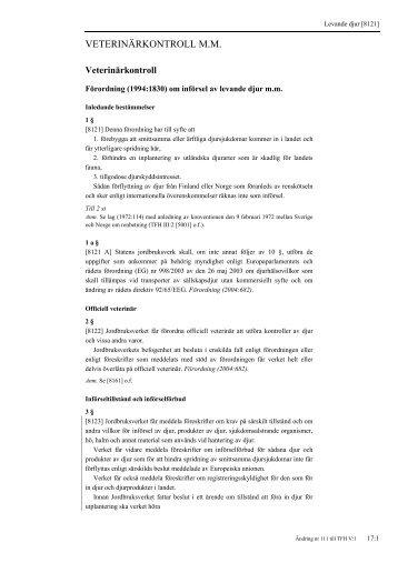 TFH V:1 Import- och exportföreskrifter - Tullverket