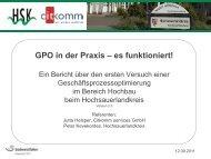GPO in der Praxis – es funktioniert! - Oev-symposium.de
