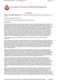 Civil Liability Amendment (Offender Damages) Bill. - Parliament of ...