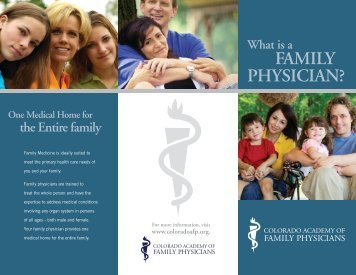 Brochure - Colorado Academy of Family Physicians