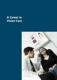 A Career in Vision Care - Association of Optometrists