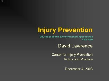 Childhood Injury Prevention - Center for Injury Prevention Policy ...