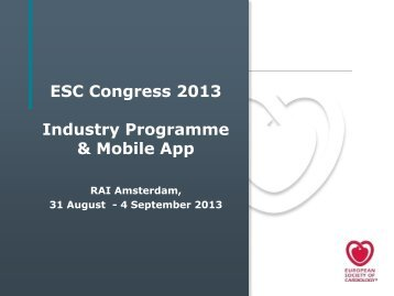 Industry Programme - ESCexhibition.org, as