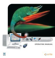 OPERATING MANUAL - X-Rite