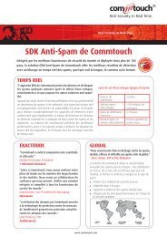 Anti-Spam Data Sheet - Commtouch