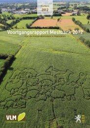 Voortgangsrapport Mestbank 2012 - Vlaamse Landmaatschappij