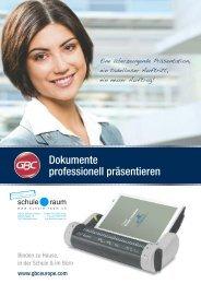 Stanz-/ Bindegeräte und Zubehör GBC/IBICO - AG für Schule & Raum