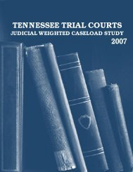Judicial Weighted Caseload Study - Tennessee Comptroller of the ...
