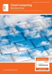 Bestenliste Cloud Computing - IT-Bestenliste