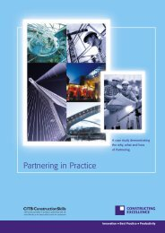 Partnering in Practice - Constructing Excellence