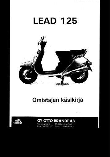 NH125 LEAD 1983 käsikirja (.pdf, 0.42 MB) - Honda