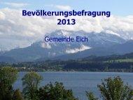 Bevölkerungsbefragung 2013 - Eich