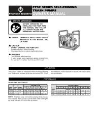 FTSP Owners Manual - Little Giant