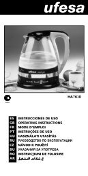 ha7610 es instrucciones de uso gb operating instructions fr ... - Ufesa