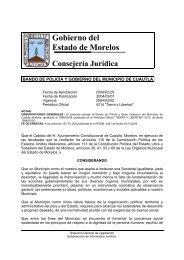 Cuautla - Gobierno del Estado de Morelos