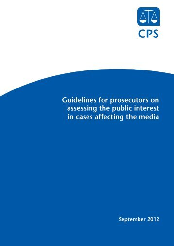 guidelines - Crown Prosecution Service