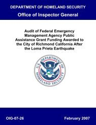 Audit of Federal Emergency Management Agency Public Assistance ...