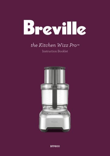 Breville Food Processor Operating Manual