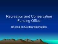 Recreation And Conservation Funding Office - Washington State ...