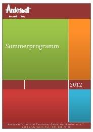 Sommerprogramm 2012 - Andermatt