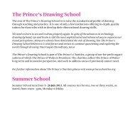 Summer School brochure - The Prince's Drawing School