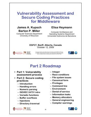 Secure coding practices - Computer Sciences