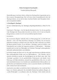 1 Kleine theologische Enzyklopädie Friedrich-Wilhelm Marquardt ...