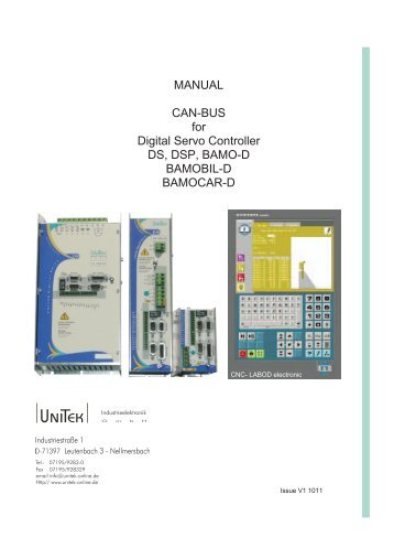 MANUAL CAN-BUS for Digital Servo Controller DS, DSP, BAMO-D ...