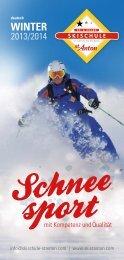 Infofolder 2013/14 - Skischule St. Anton
