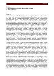 GROTIUS Borhi László A nagyhatalmak kelet-közép-európai ...