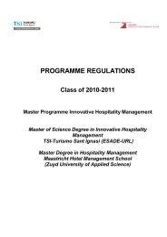 programme regulations - TSI-Turismo Sant Ignasi - Universitat ...