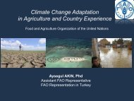 Climate Change Adaptation in Agriculture and Country Experience