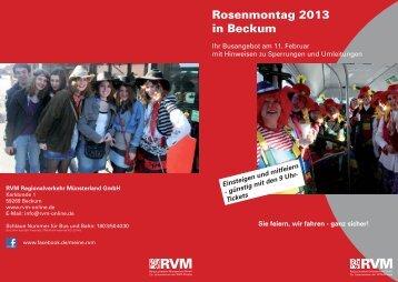 Fahrplan Karneval Beckum - RVM