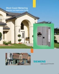 West Coast Metering Selection & Application Guide - Siemens