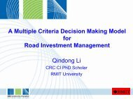 A Multiple Criteria Decision Making Model for Road Investment ...