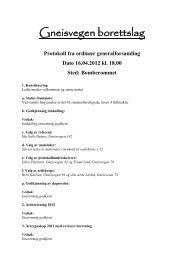 Protokoll fra ordinær generalforsamling 2013