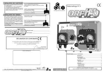 ORPHEO LT notice A5 V12 FR - VitaPiscine