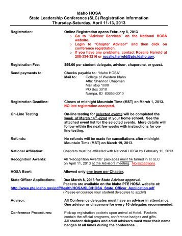 Registration Packet - Idaho Professional-Technical Education ...