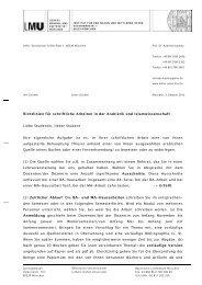 Richtlinien für schriftliche Arbeiten in der Arabistik und ...