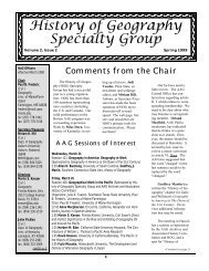 Comments from the Chair - Geography Home