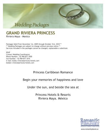 GRAND RIVIERA PRINCESS - Romantic Planet Vacations
