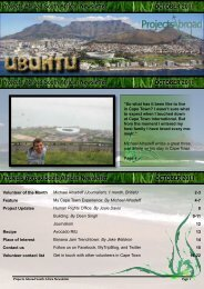 Projects Abroad South African Newsletter OCTOBER 2011 Projects ...